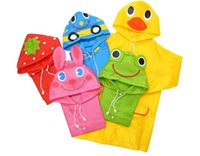 Wholesale Rain Ponchos child raincoat child poncho cartoon animal style kids baby raincoat Cute Baby Rainwear