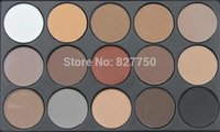 Wholesale 15 Earth Color Matte Pigment Eyeshadow Palette Cosmetic Makeup Eye Shadow for women