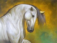 oil paint by numbers - 2015 Hot sell Handpainted Animal Oil Painting Horse Painting On Canvas Living Room Home Decoration Wall Art Picture By Numbers Painting