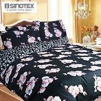 Cheap Home textile Bedding Set Cotton 3PCS Set Reactive Print Luxury Brand Logo 100% Fashion Queen Bed Quilt Cover Set Pillow Case