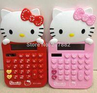 Wholesale Fashion Hello Kitty Girls Electric Calculator Cartoon Desktop Calculator A1271