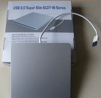 Wholesale USB Super slim external portable slot in DVDRW DVD writer general external CD Rom