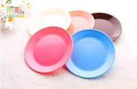 Wholesale 3768 Dazzle Colour Food Grade Plastic Tableware Snacks Seeds Flat Plate Snack Plate Colors