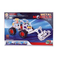 assembly load - Taobao hot hand assembled metal puzzle toys DIY bulldozer self loading simulation assembly