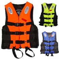Floatation Devices baby swimming jacket - Outdoor Baby Children Swimming Life Vest Water Sports Life Jacket Professional Fishing Jacket Life Buoy Floatation Jacket With Whistle