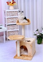 Wholesale free ship litter cat climbing frame tree platform cat scratching post sisal grinding claws pet products cat house cat home