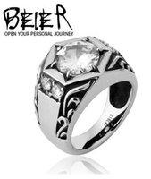 al por mayor contrato de estrellas-2016 de la joyería de las maneras de la manera del restablecimiento antiguo de la venta al por mayor contrató el anillo seis-acentuado del anillo del zircon del embutido de la estrella El anillo del muchacho libera el envío