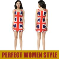 union jack dress - FG1509 UNION JACK MADE TO ORDER Black Milk Sleeveless Summer Sexy England British Flag Tank Dress Elastic Galaxy Sky Print