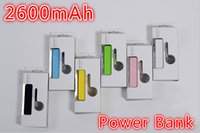 Cheap Portable Power Bank External 2600mAh Mobile USB Battery Charger cell phone chargers for Cell Phone free shipping
