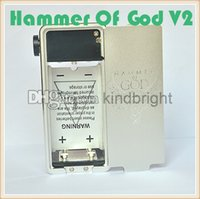 battery factory shop - Perfet design Hammer Of God V2 box mod factory price hammer of god box mod clone works with four battery onlline shopping
