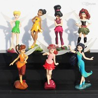 tinkerbell - set Tinker Bell and the Pirate Fairy Silvermist Iridessa Rosetta Fawn Tinkerbell PVC Doll Action Figure Toy Gift For Girl