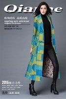 argyle pants - Coolest Original fashion Suit collar color long coat pant price winter women s coat long design