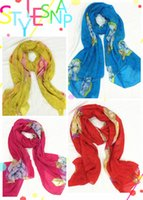 Metal sunscreen - Scarves for Women Women s Fashion Sunscreen Long Wrap Shawl Beach Peony Design Velvet Chiffon Scarfs Scarves