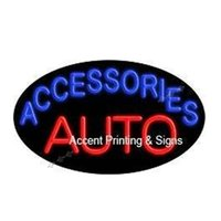 auto accessories garage - 22X13 quot Auto Accessories Flashing Handcrafted Real Glass Tube Custom LOGO Room Windows Garage Wall Sign NEON SIGNS NEON LIGHTS