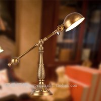 antique reading lamps - American antique copper retro table lamps study lamp living room full copper HH study lamp reading lamp