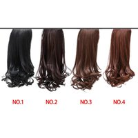 Wholesale 2015 fashional high quality Women girls kinds cm long Wavy Curly Claw Ponytail Clip in Hair Extensions Hairpiece