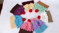 Wholesale Newest HOT Neff Women s Cupcake Beanie Hat Winter hat Lovely cupcakes modelling children embroidery cake ice cream hat LB16