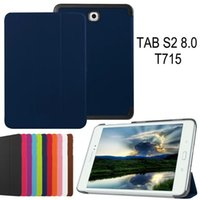 Wholesale Tri Folding Folio Smart Cover Flip Cases For Samsung Galaxy Tab S2 inch T710 T715 T810 T815 Stand Case Custer Leather Business Cover