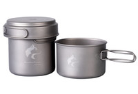 cookware - Boundless Voyage Titanium Cookware Camping Pot Set Outdoor Pan Camping Titanium Pot Outdoor Cookware Set g Ti1501B