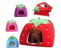 Wholesale L size cm Pet Waterloo Dog kennel cat litter pet litter pet products Strawberry nest HK40