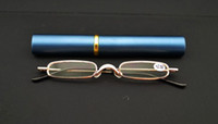 Wholesale High Quality Ultra Slim Trim Reading Glasses Metal Mini Tube Reader