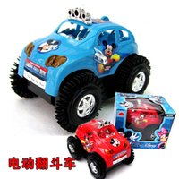 automatic car stalling - hot encounter obstacles toy stall automatic turning steering electric toy car speed Mickey bucket
