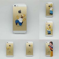 For Apple iPhone Plastic Transparent Transparent Simpson Hand Grasp Snow White Pattern Back Decal Vinyl Skin Cover Hard Case Cases Sticker for iPhone 6 6+ PLUS 5S 4S