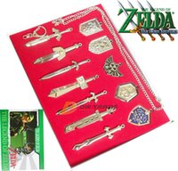 weapons - DHL new set The Legend of Zelda Weapon Sets Link Swords to cm Metal key Ring Necklace pendant Xmas Gift J010903