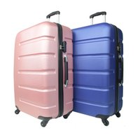 Wholesale newest abs luggage suitcase fashion sports two color spinner luggage suitcase