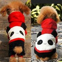 al por mayor ropa de lana polar-2015 caliente ropa para mascotas Perro Alimentos para mascotas Happy Panda Tetrapod otoño e invierno polar de coral de ropa Envío gratuito