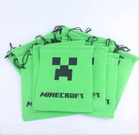 Wholesale AAAA quality New Minecraft Drawstring bag minecraft creeper bag Draw String bags creeper JJ bag Minecraft Bags1311