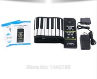 Wholesale The silicone skin key dampened the piano high quality new portable foldable soft electronic digital roll up SJ88