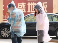 Wholesale Disposable PE Raincoats Poncho Rainwear Travel Rain Coat Rain Wear gifts mixed colors Best Quality