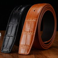 bamboo flags - Drop shipping New Designer Men Cow Leather Belt Strap Bamboo Shape Skin Waistband for Male Cinto NO BUCKLE