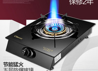 Wholesale high flame embedded single toughened glass kitchen gas burner energy saving kitchen burning gas oven gas cookers