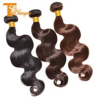Cheap Hot Sale 6A Brazilian Virgin Hair Body Wave 3 Bundles Short Human Hair Extensions Cheap Brazilian Hair Weave Natural Black Dark Medium Brown