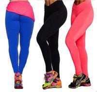 high waist pants - Women High Waist Slim Fit Tight YOGA Tights Leggings Fitness Sport Pants DH
