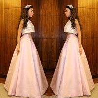apple websites - Two Pieces Prom Dresses Satin Jewel Neck Empire Satin A Line Party Evening Dresses Cocktail Dress Online Website
