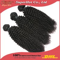 kinky curly - Afro Kinky Curly Hair Bundles A Brazilian Virgin Human Hair Extensions Unprocessed Hair Weaves Machine Double Wefts ePacket