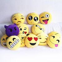adult toys home - 20 Style Emoji Smiley Emoticon Round Cushion home Pillow Stuffed Plush Soft Toy almofada cushion Christmas Present