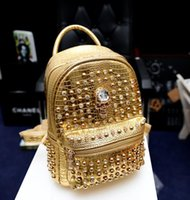 mcm backpack - Rivets MCM Sparkle Backpack Unisex hip hop backpack small A87 MCM shoulder bag MCM school bags leather backpacks