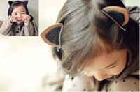 Wholesale Lovely Pair Cat Ears Kid Hairpins Colors Available Little Girl Head Pieces Flower Girl Head Accessories Daughter Birthday Gifts