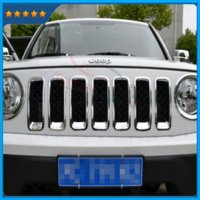 auto grill covers - Auto Grill Vent Hole Frame Insert Covers Grille Trim ABS Chromed Silver For Jeep patriot