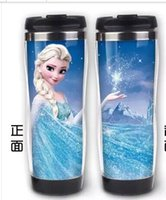 steel water bottles - 2014 FROZEN stainless steel water bottle kids cartoon water bottle sports bottle
