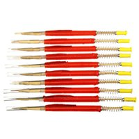 Wholesale 10pcs bag Retractable Type Beekeepers Grafting Tools Shift Insect Needle Beekeeping Supplies For Bee Eggs Red