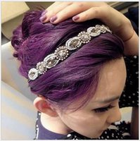 Cheap Hot Selling Beaded Jewelry Rhinestone Headband For Women Glamorous Vintage Korea Shining Hair Accessories Drop Shipping