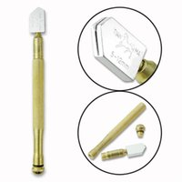 Wholesale 5 mm New Diamond Tipped Glass Cutter Metal Handle Steel Blade Oil Feed Cutting Tools EN1705