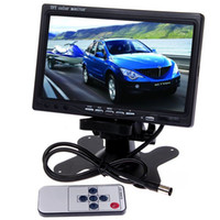 Wholesale 7 quot High Solution TFT Color In Dash LCD Video Input Car Rear View Headrest Monitor DVD VCR Monitor Carera Video