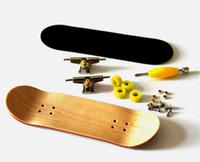 Wholesale Lovesporter Maple DIY Finger Skateboard Wooden Fingerboard w Nuts Trucks Basic Bearing Wheels