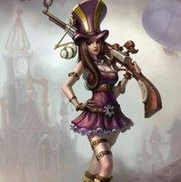 Wholesale LOL League of Legends The Sheriff of Piltover Cait Cassiopeia Caitlyn with Gun PVC Action Figure Toy Movies Video Game Cartoon LOL001